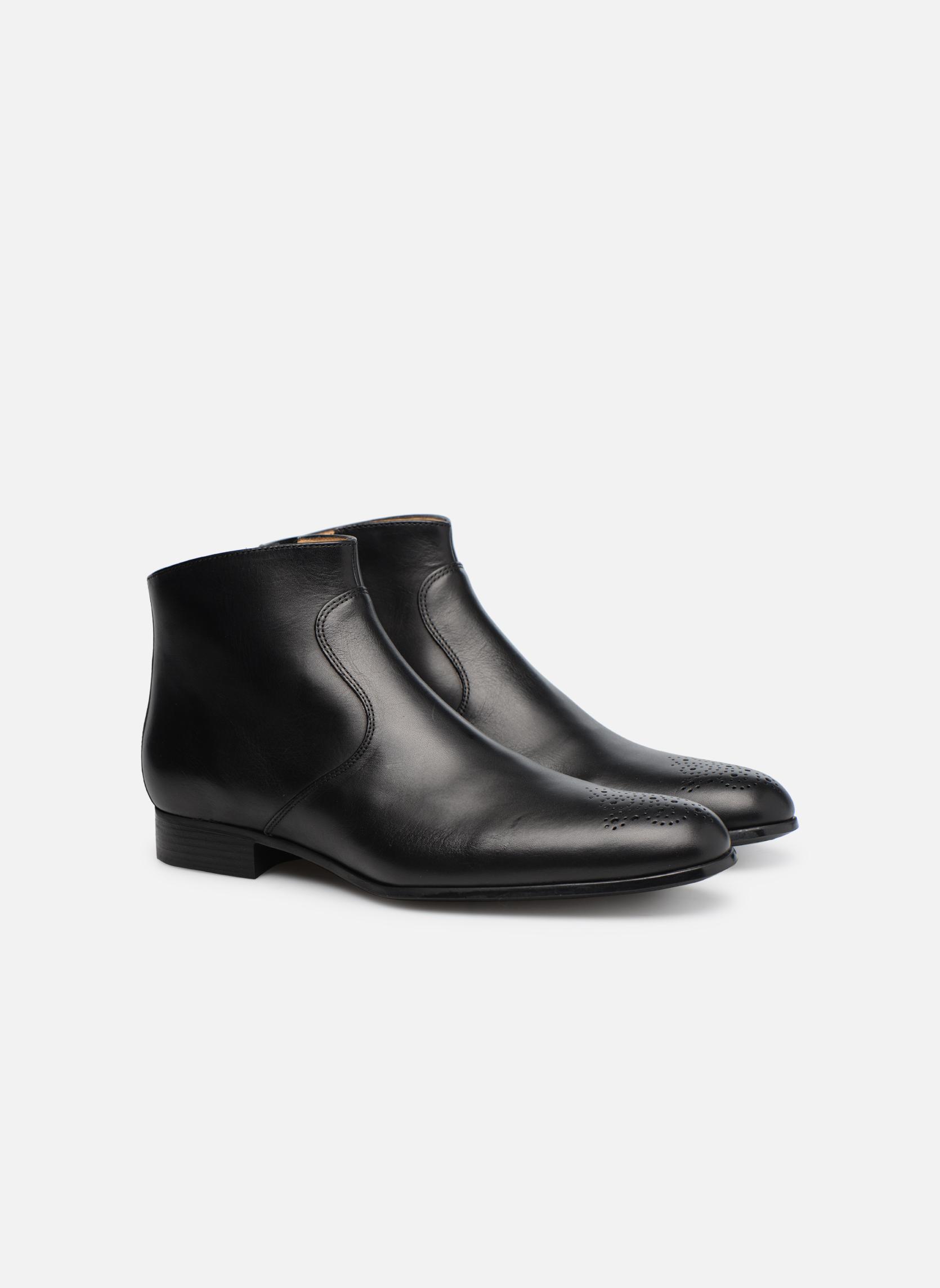 Bottines et boots Jean-Baptiste Rautureau Rija Boots perfo Noir vue 3/4