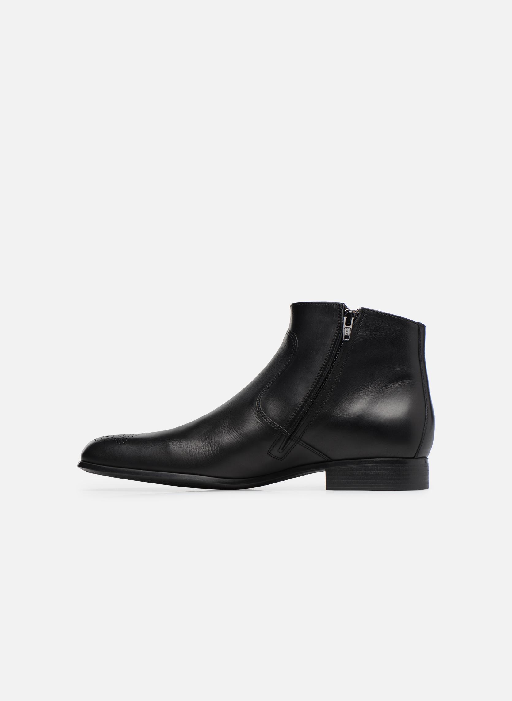Bottines et boots Jean-Baptiste Rautureau Rija Boots perfo Noir vue face