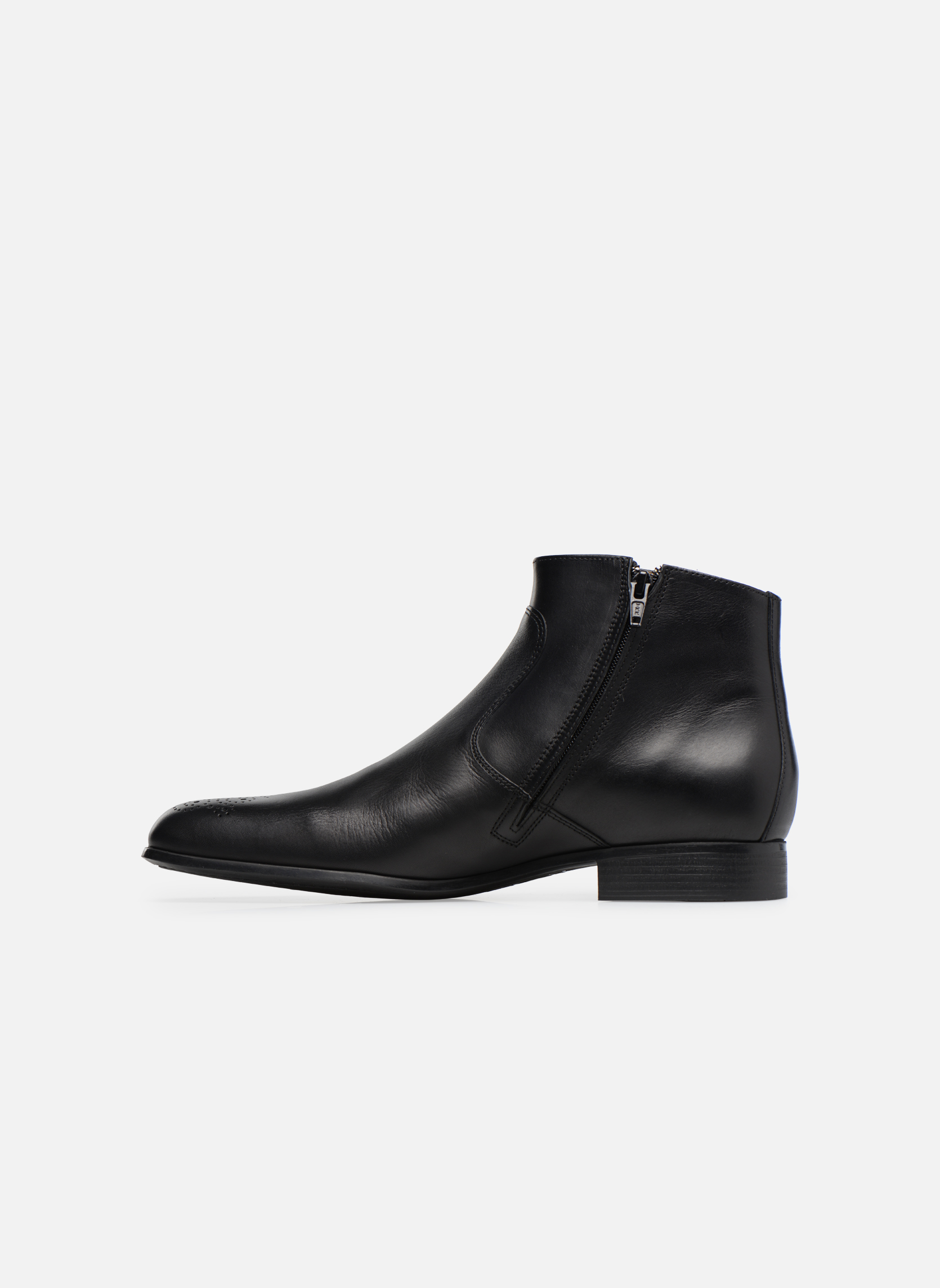 Boots en enkellaarsjes Jean-Baptiste Rautureau Rija Boots perfo Zwart voorkant