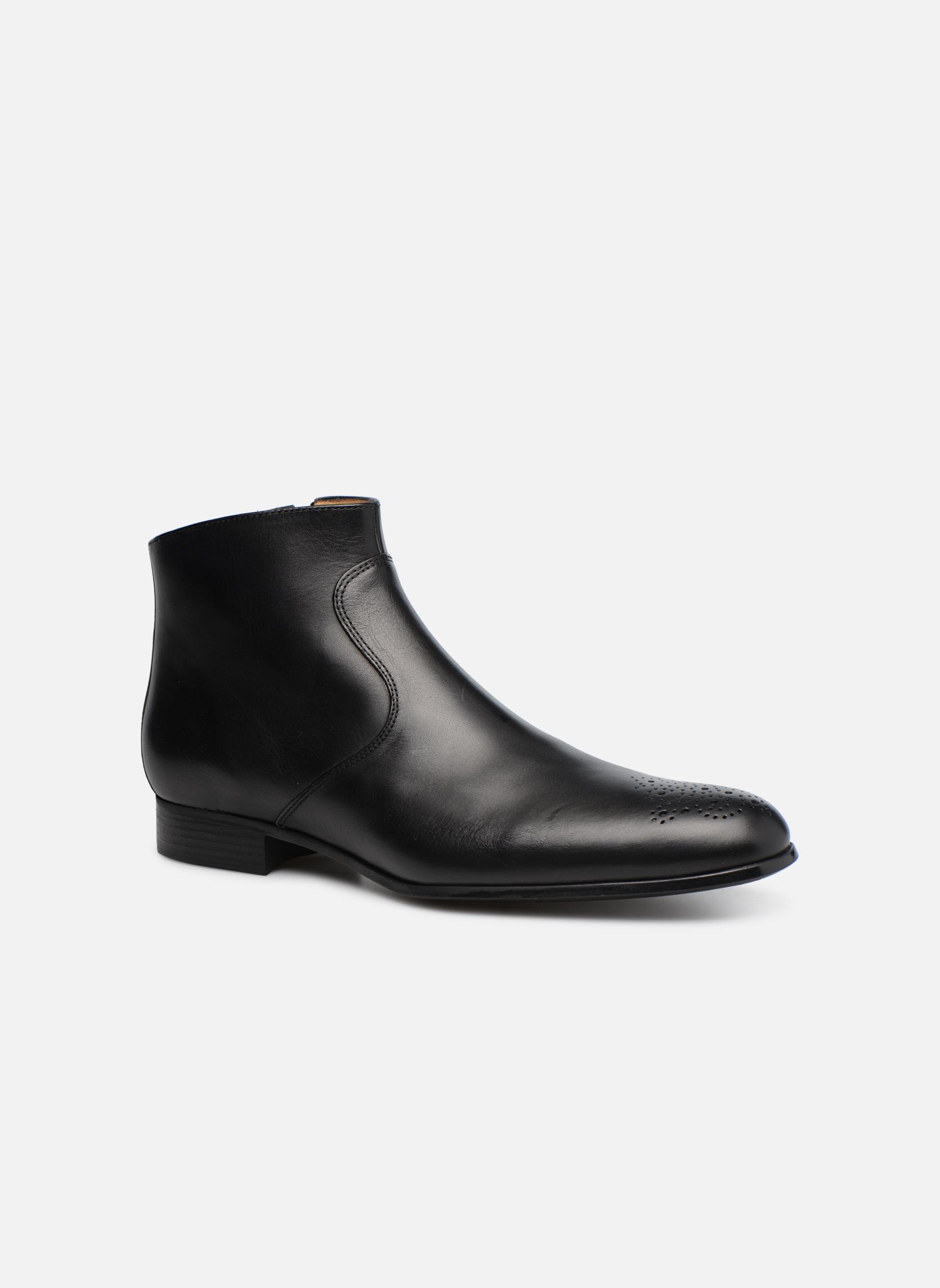 Boots en enkellaarsjes Jean-Baptiste Rautureau Rija Boots perfo Zwart detail