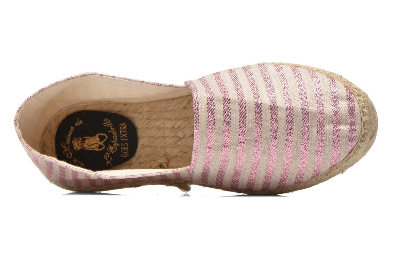 Espadrilles La maison de l'espadrille Lady Sabline E rosa ansicht von links