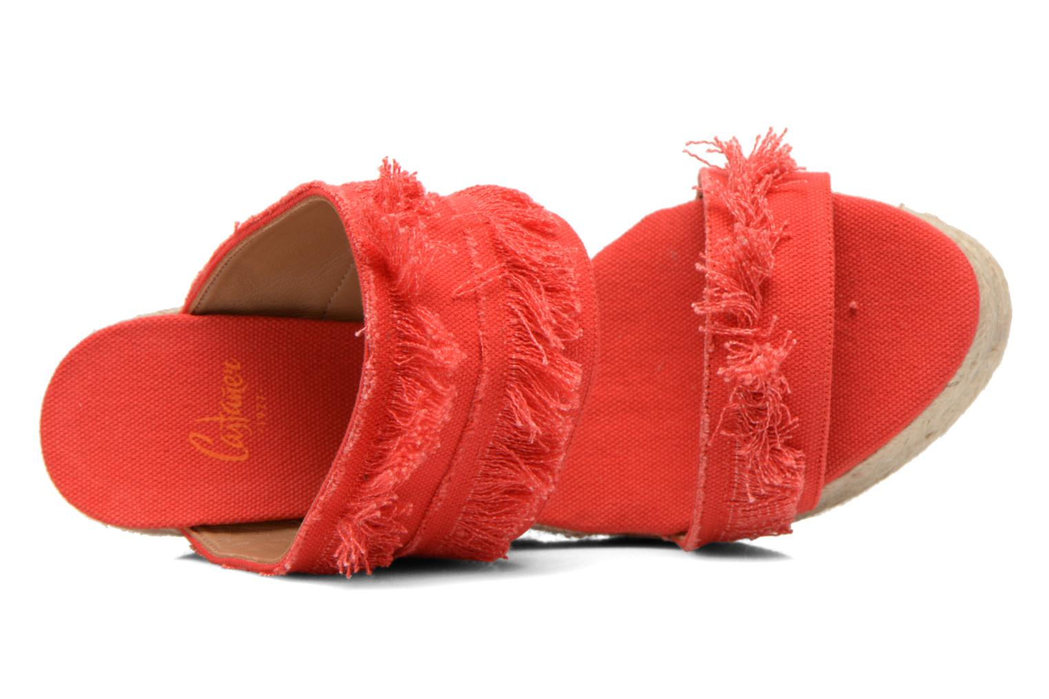 Basha8ED feathered canvas rojo