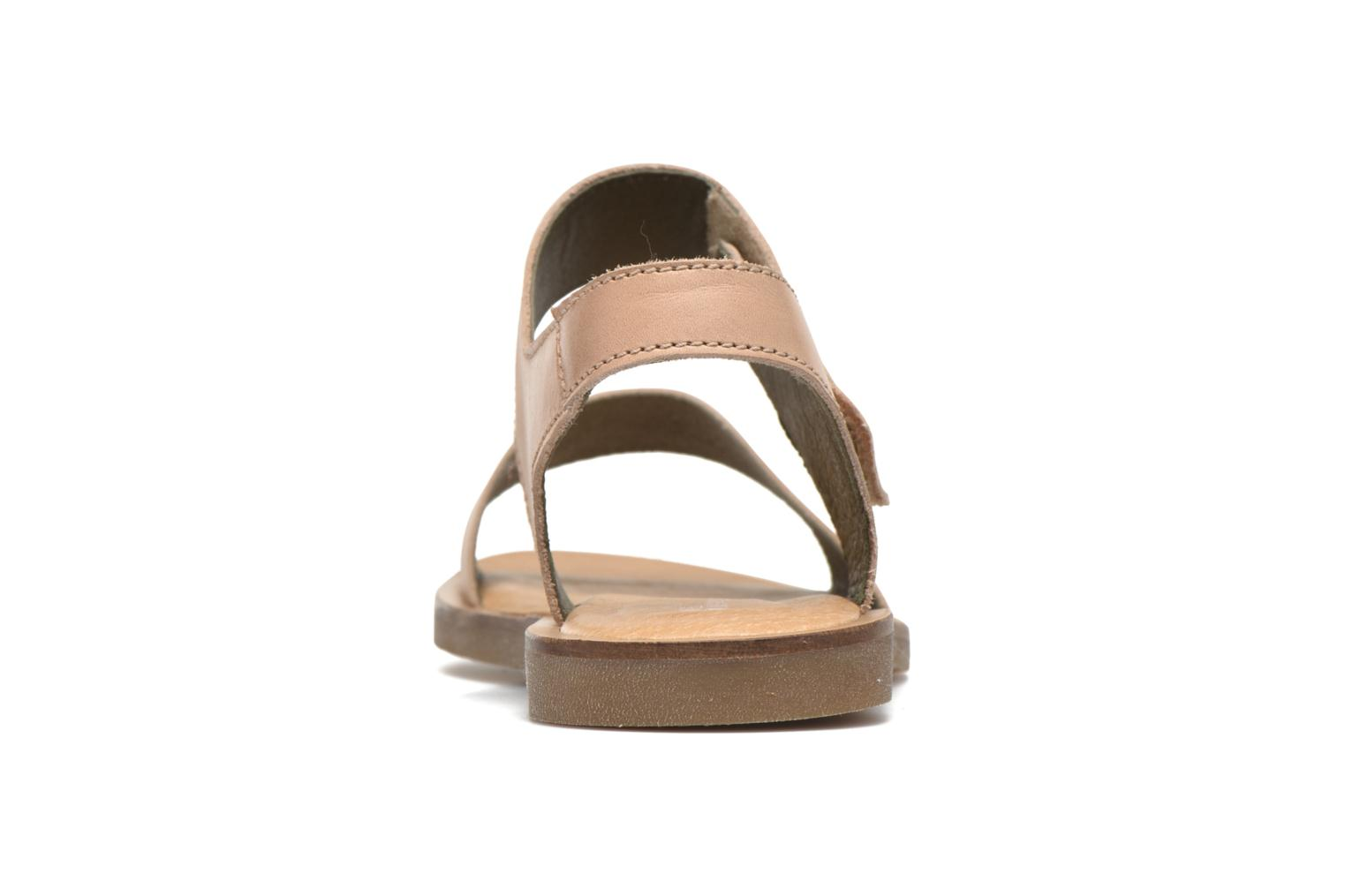 Sandals El Naturalista Tulip NF30 Beige view from the right