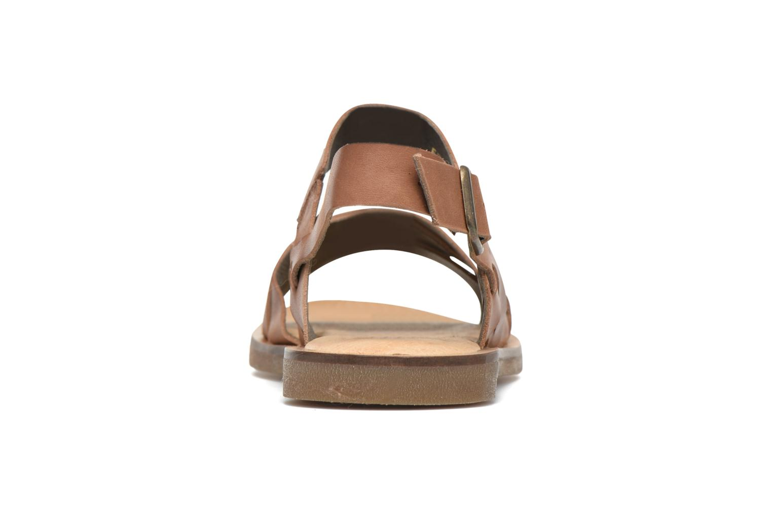 Sandals El Naturalista Tulip NF33 Brown view from the right