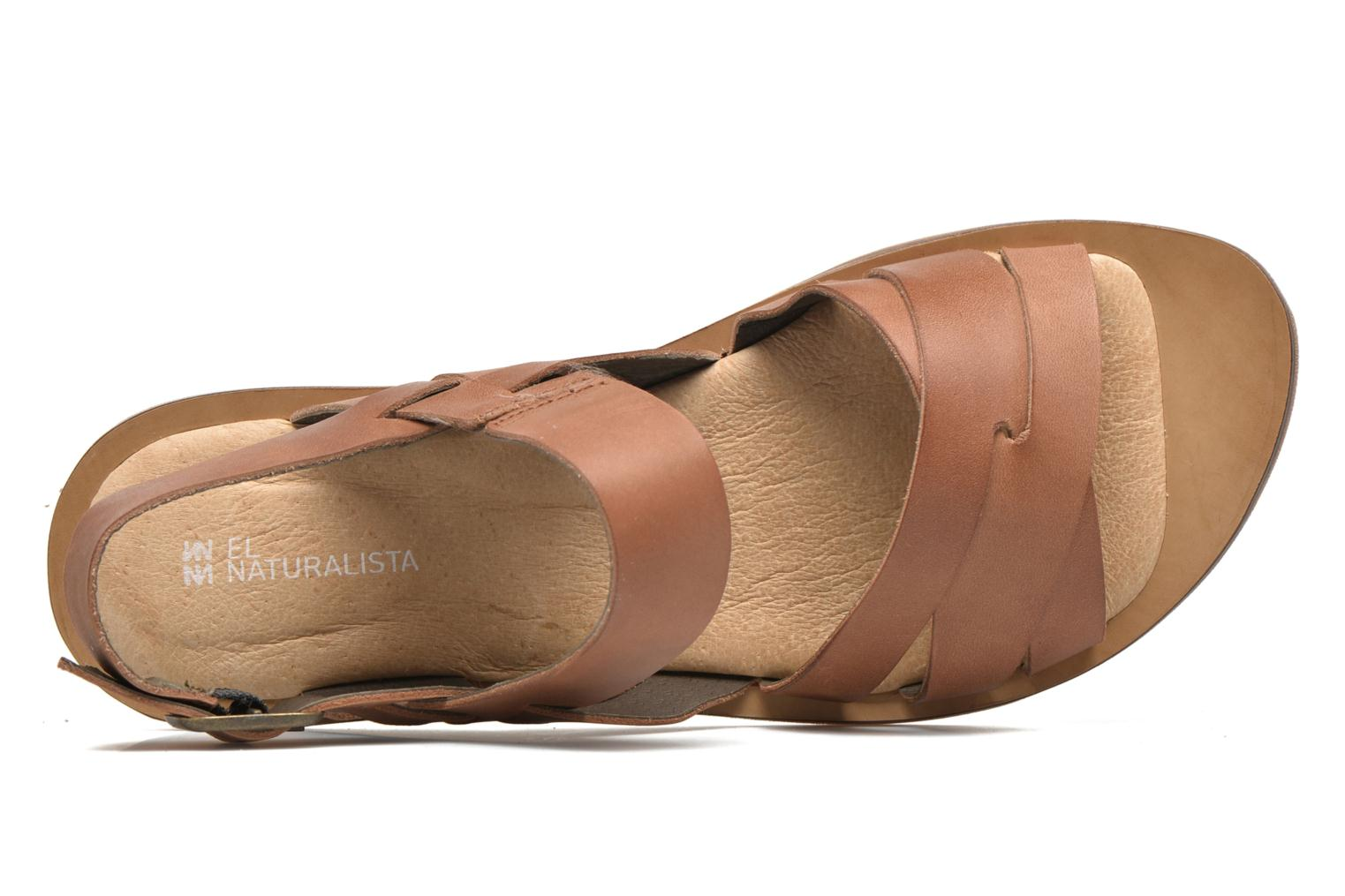 Sandals El Naturalista Tulip NF33 Brown view from the left