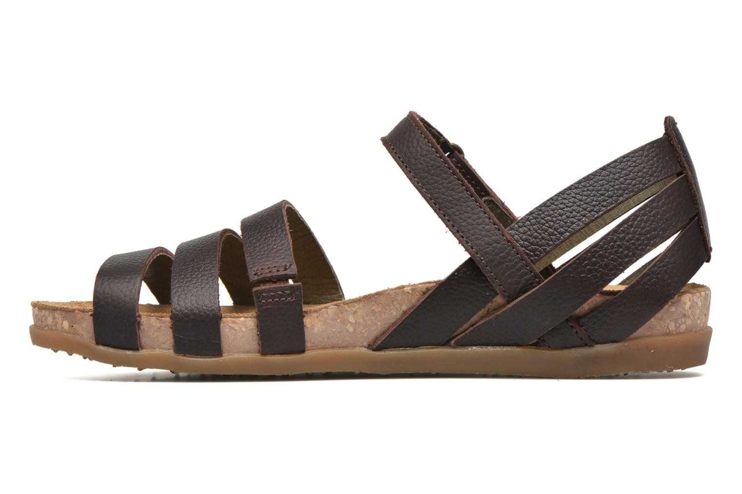 Sandals El Naturalista Zumaia NF42 Brown front view