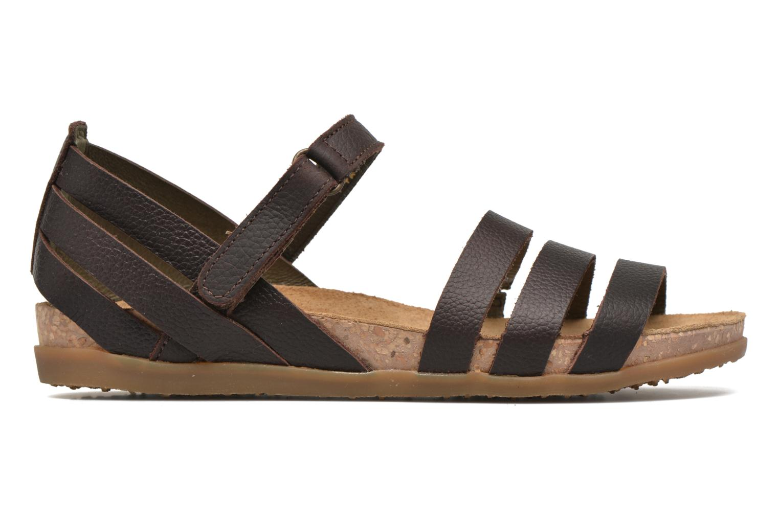 Sandals El Naturalista Zumaia NF42 Brown back view