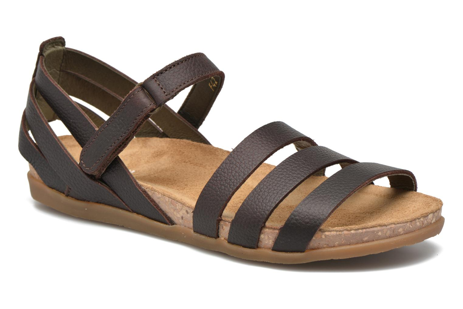 Sandals El Naturalista Zumaia NF42 Brown detailed view/ Pair view