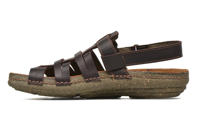 Sandales et nu-pieds El Naturalista Torcal N337 Marron vue face
