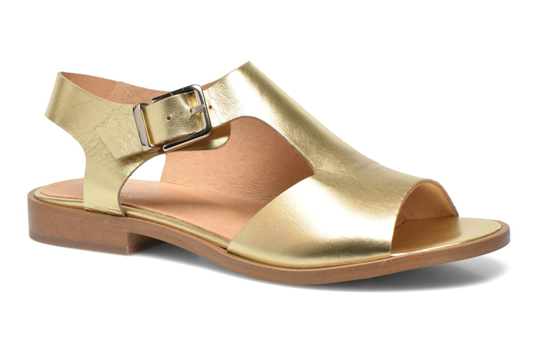 Sandalias Made by SARENZA Menthe Hello #13 Oro y bronce vista de frente