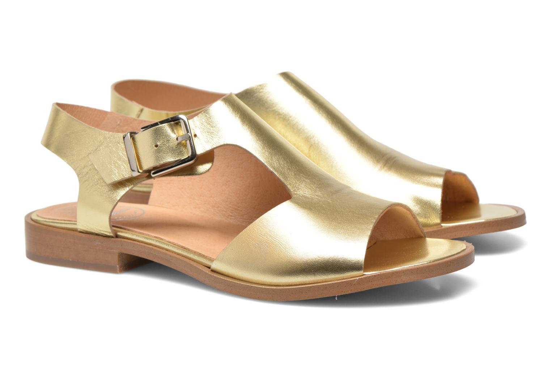 Sandalias Made by SARENZA Menthe Hello #13 Oro y bronce vista lateral derecha