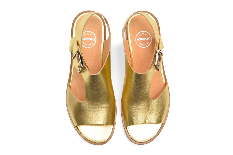 Sandalias Made by SARENZA Menthe Hello #13 Oro y bronce vista de arriba