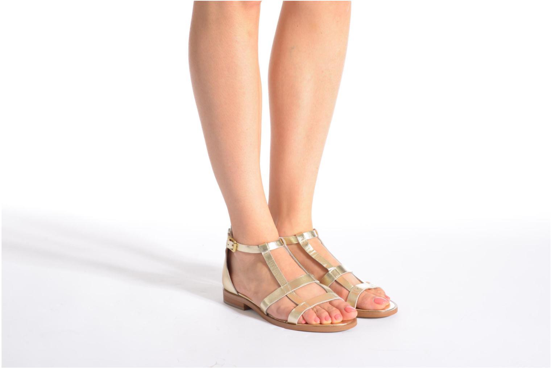 Sandalias Made by SARENZA Square Simone#6 Oro y bronce vista de abajo