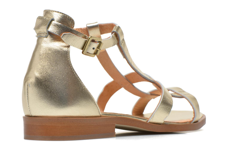 Sandalias Made by SARENZA Square Simone#6 Oro y bronce vista del modelo