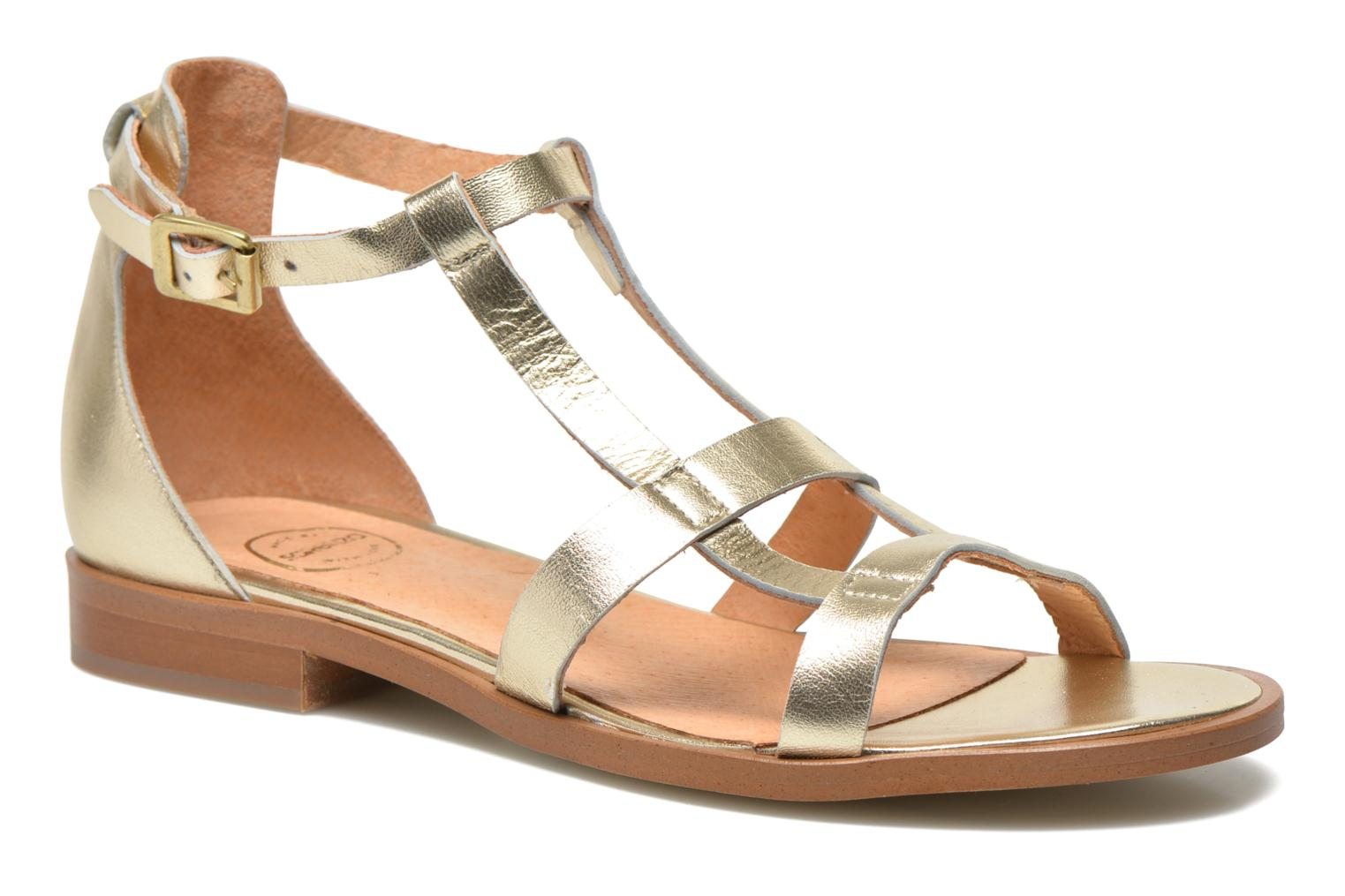 Sandalen Made by SARENZA Square Simone #6 Goud en brons voorkant