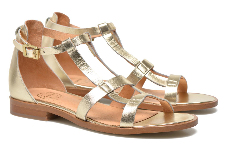 Sandalias Made by SARENZA Square Simone#6 Oro y bronce vista lateral derecha
