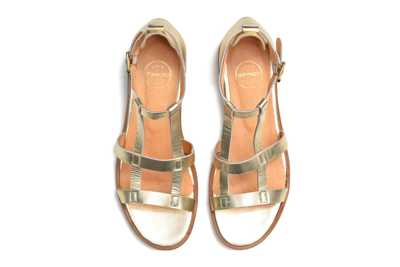 Sandalias Made by SARENZA Square Simone#6 Oro y bronce vista de arriba