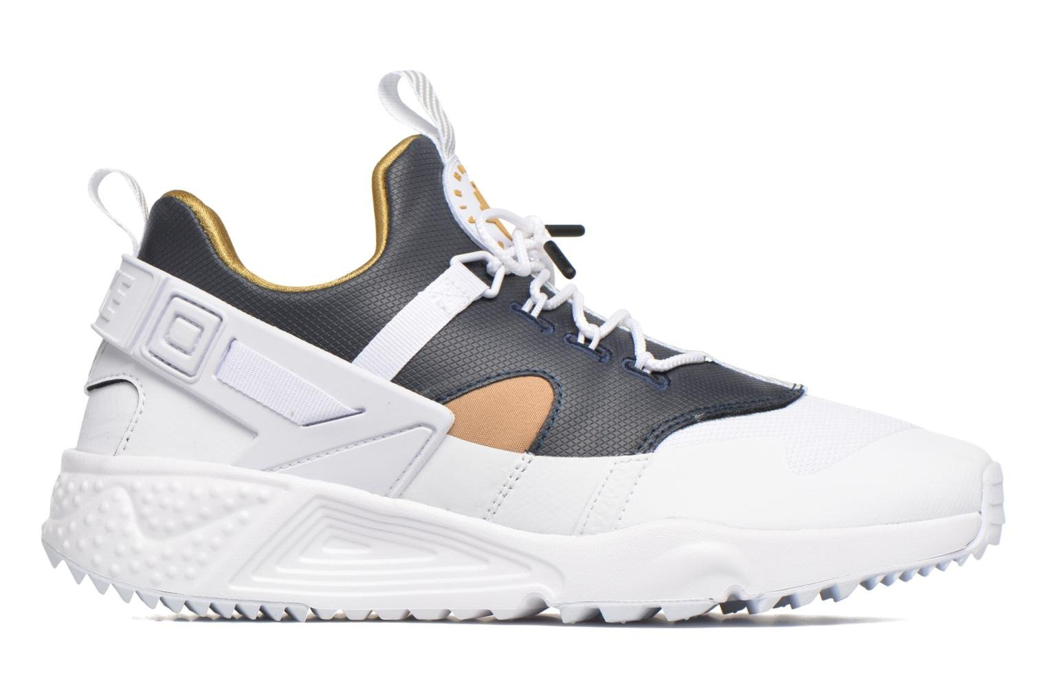 Nike Air Huarache Utility Prm White/Metallic Gold-Dark Obsidian-White