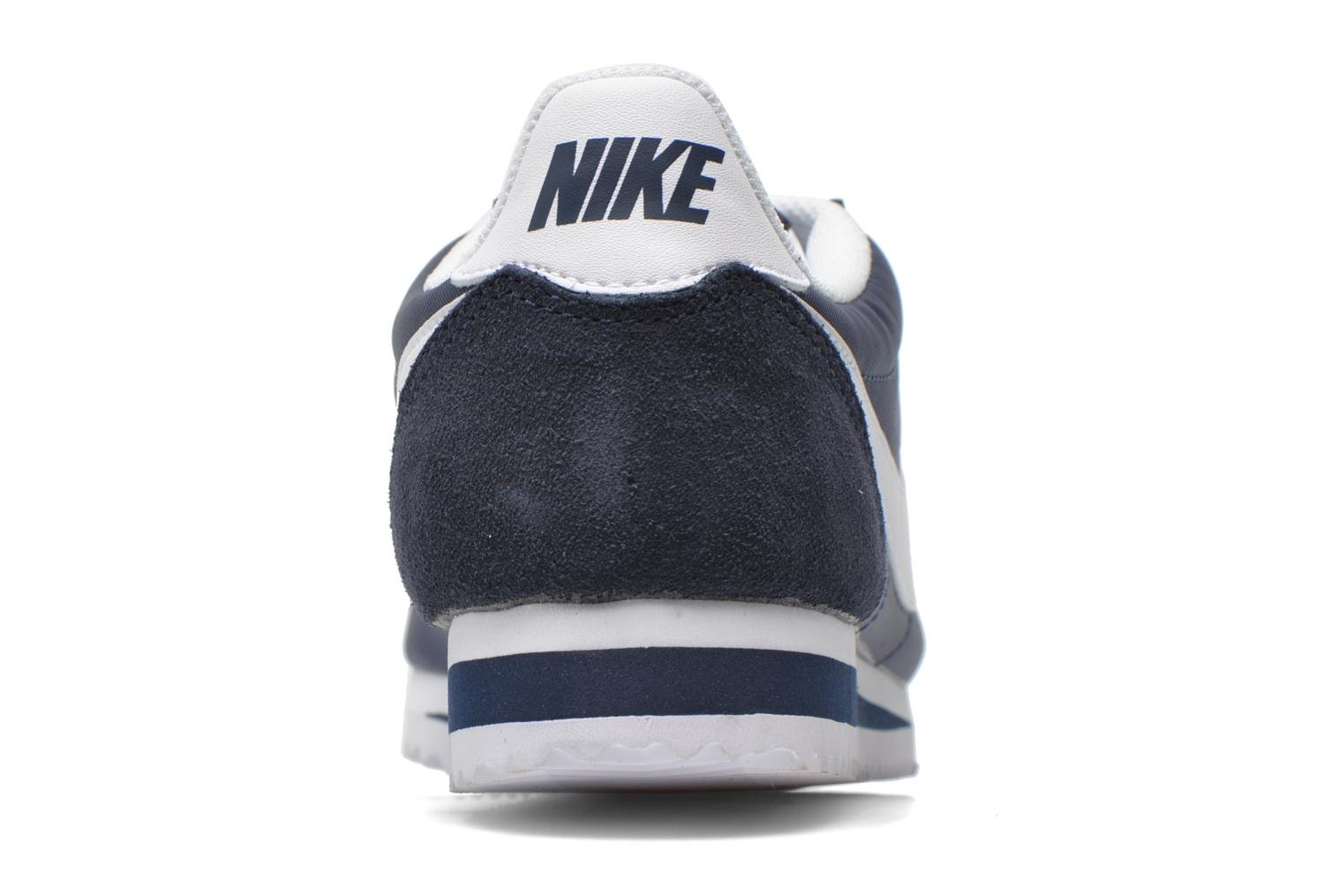 Trainers Nike Classic Cortez Nylon Blue view from the right