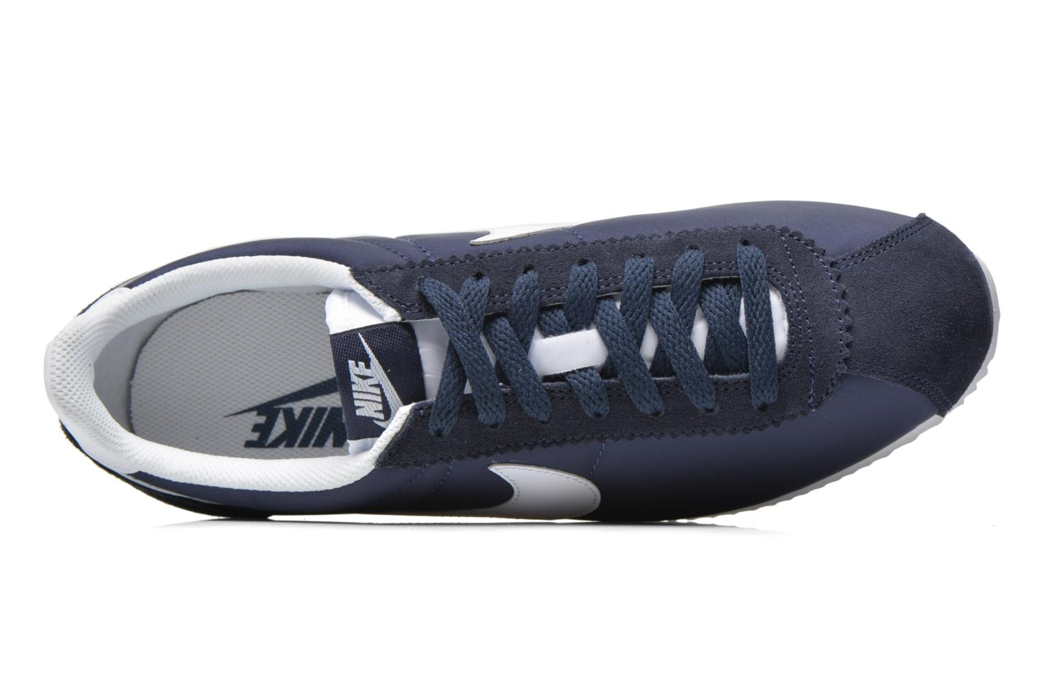 Trainers Nike Classic Cortez Nylon Blue view from the left