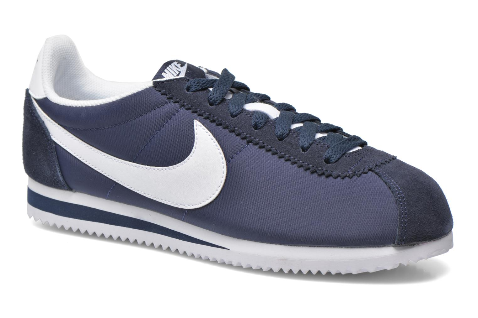 Trainers Nike Classic Cortez Nylon Blue detailed view/ Pair view