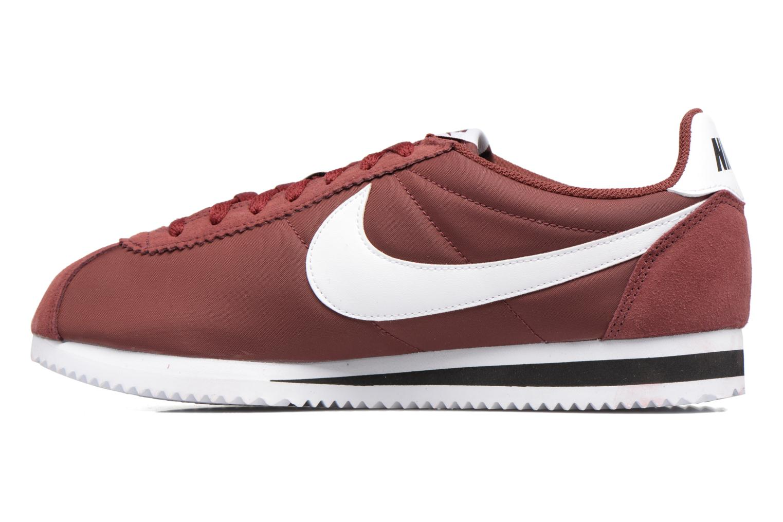 Sneakers Nike Classic Cortez Nylon Bordeaux voorkant