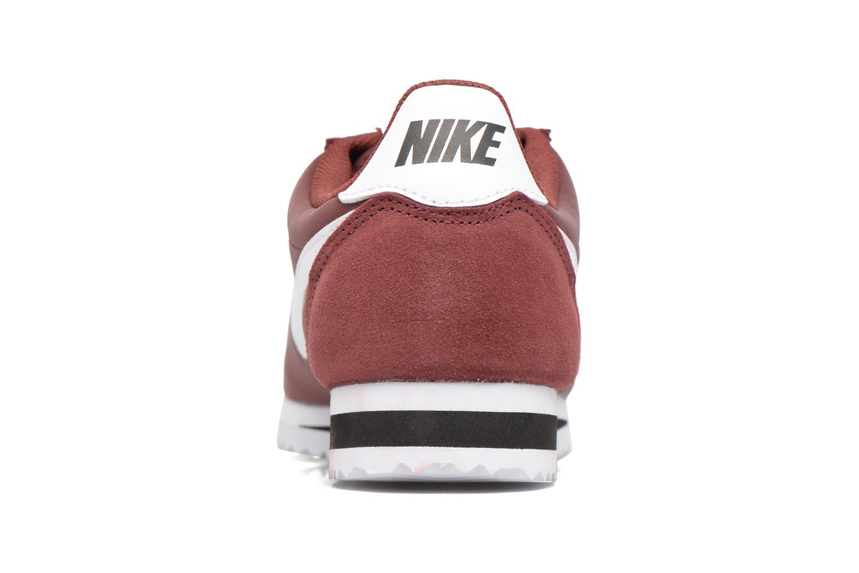 Baskets Nike Classic Cortez Nylon Bordeaux vue droite