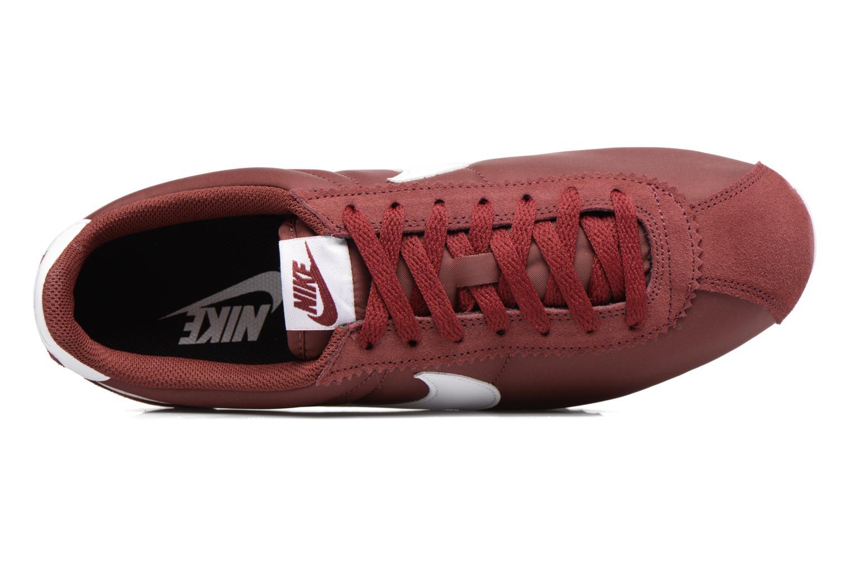 Sneakers Nike Classic Cortez Nylon Bordeaux se fra venstre