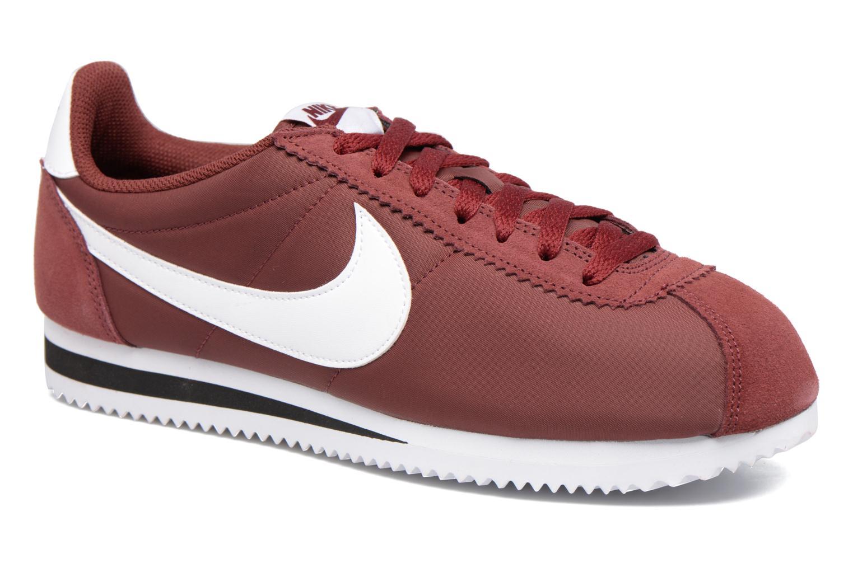 Sneakers Nike Classic Cortez Nylon Bordeaux detaljeret billede af skoene