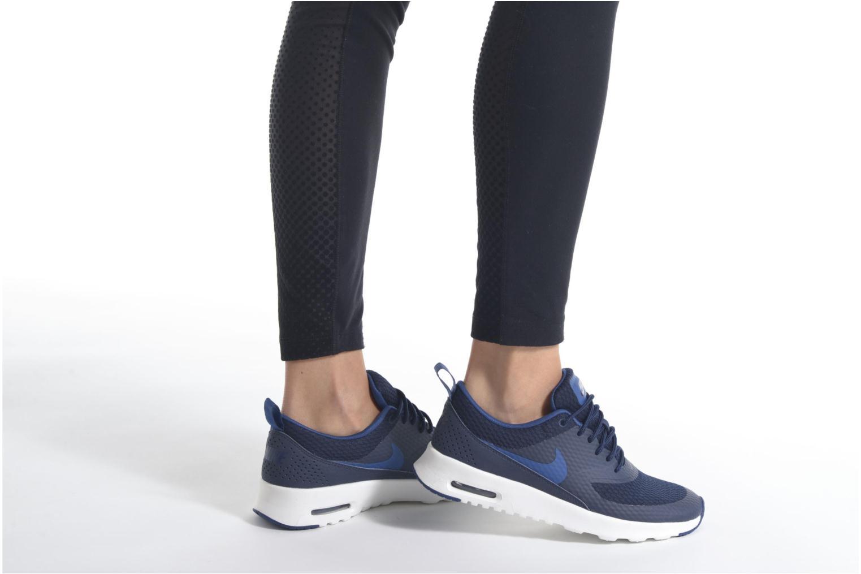 Baskets Nike W Nike Air Max Thea Txt Rose vue bas / vue portée sac