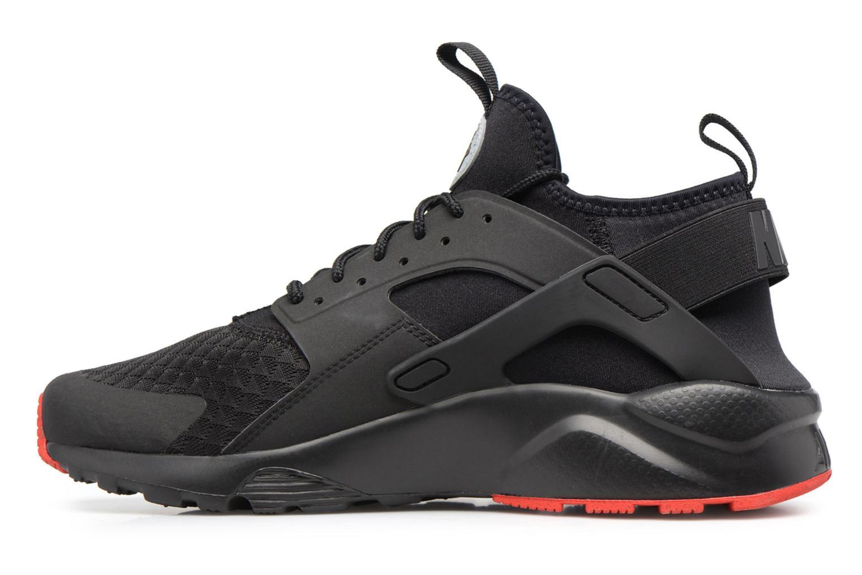 Nike Air Huarache Run Ultra Black/Metallic Silver-University Red