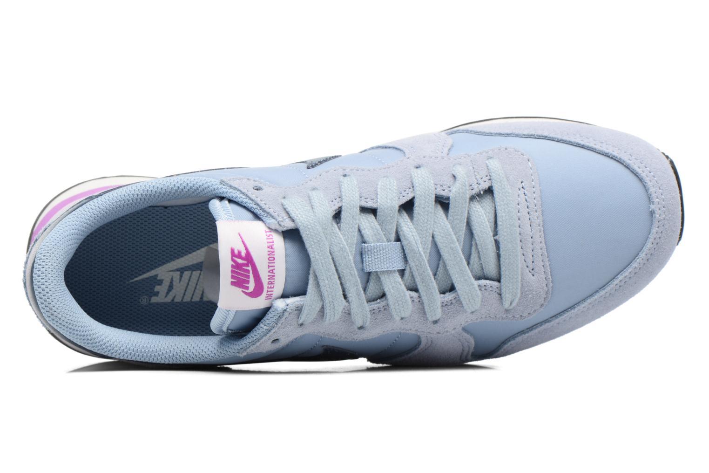 Sneaker Nike Wmns Internationalist blau ansicht von links