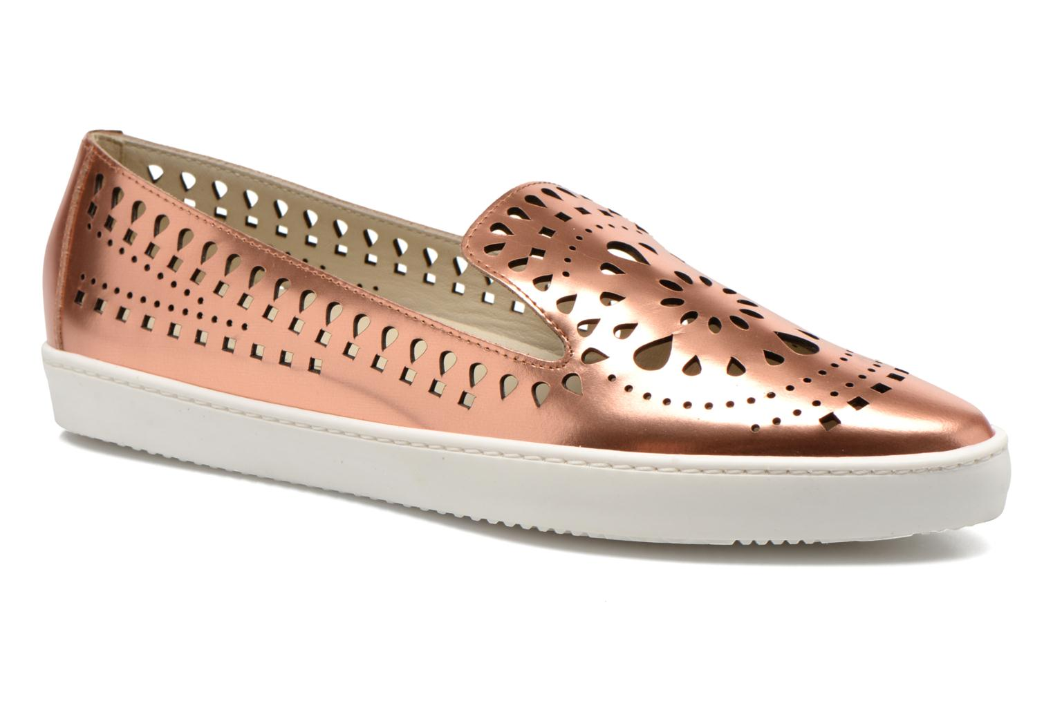 Loafers Fabio Rusconi Lido Bronze and Gold detailed view/ Pair view