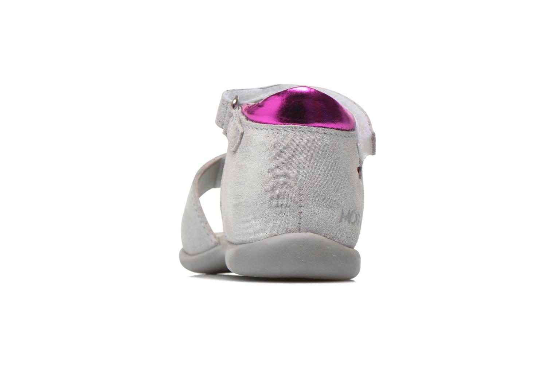 Sandales et nu-pieds Mod8 Garance Argent vue droite