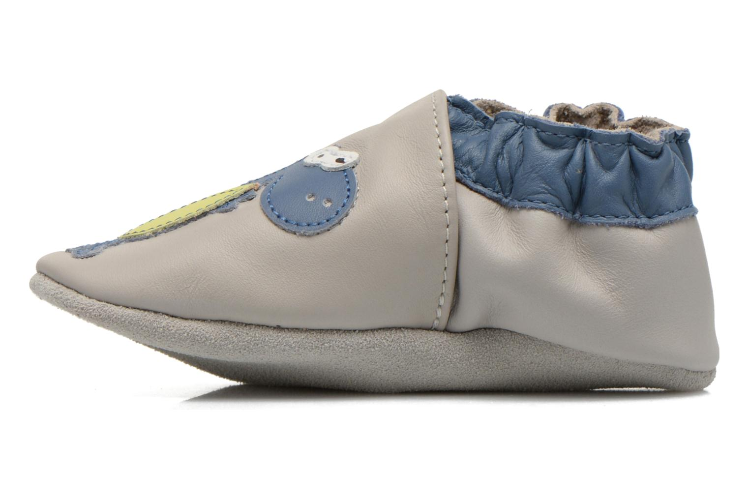 Chaussons Robeez Dinos Club Gris vue face
