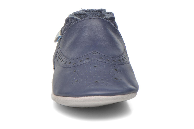 Chaussons Robeez Smart Bleu vue portées chaussures