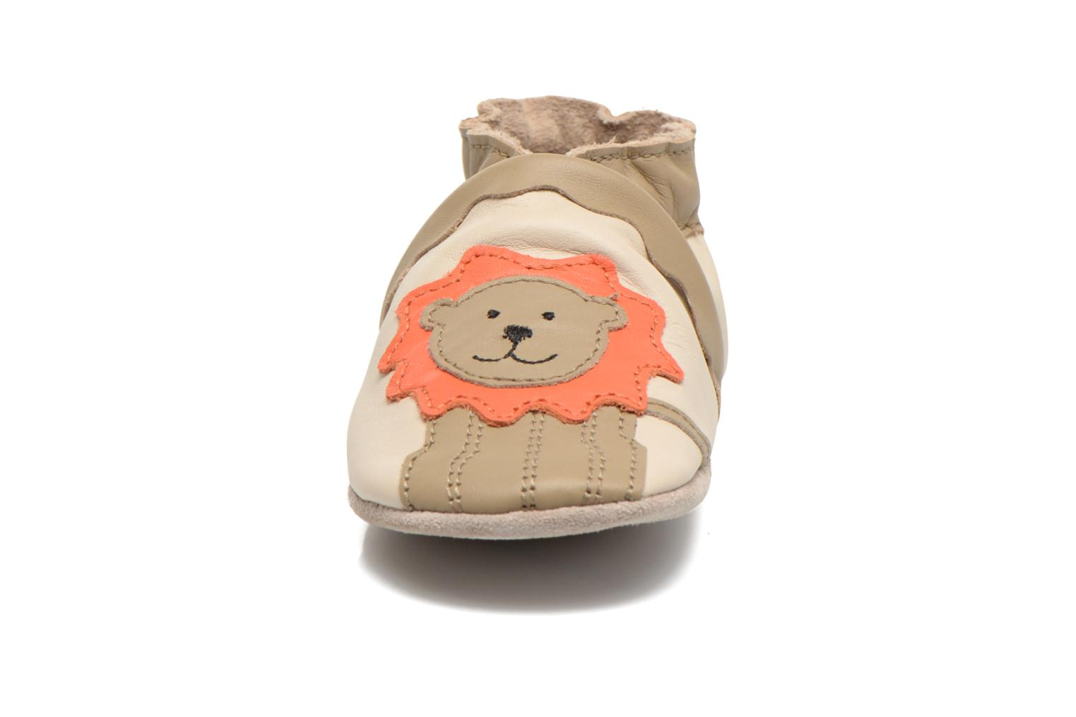 Chaussons Robeez Glory Beige vue portées chaussures