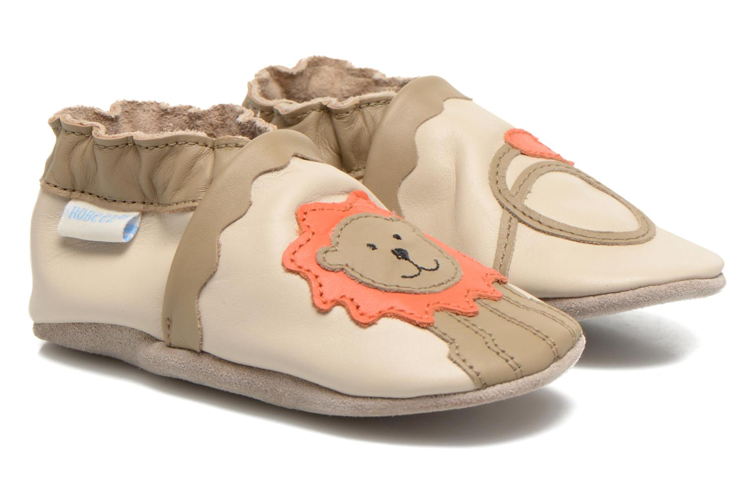 Slippers Robeez Glory Beige detailed view/ Pair view