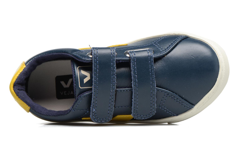 Sneaker Veja Esplar Small Velcro blau ansicht von links