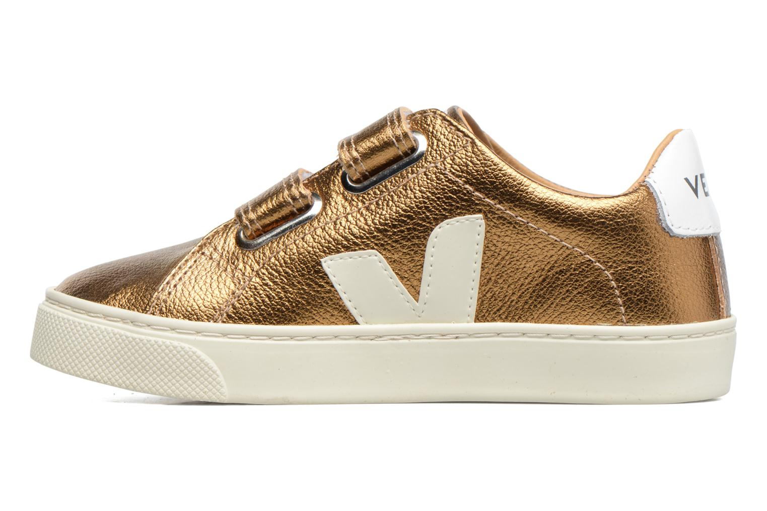 Trainers Veja Esplar Small Velcro Bronze and Gold front view