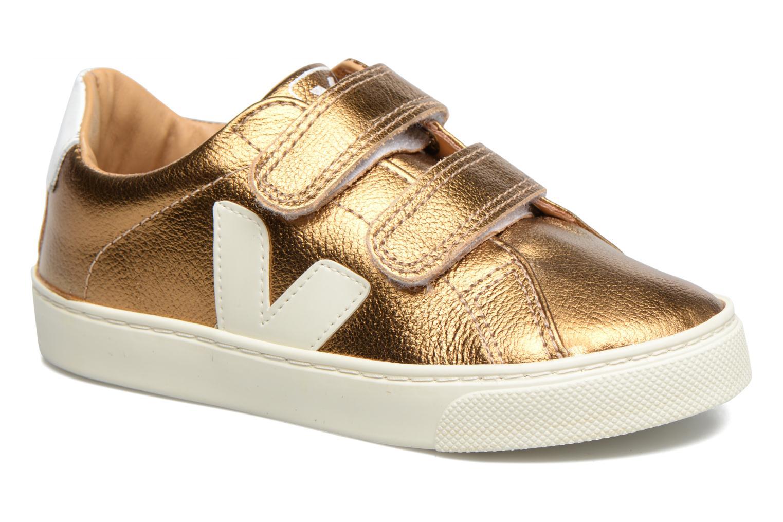 Baskets Veja Esplar Small Velcro Or et bronze vue détail/paire