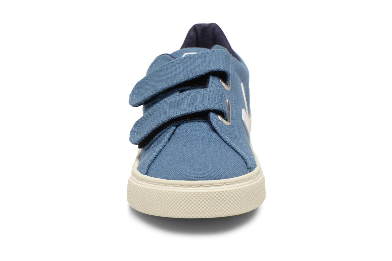 Baskets Veja Esplar Small Velcro Beige vue portées chaussures