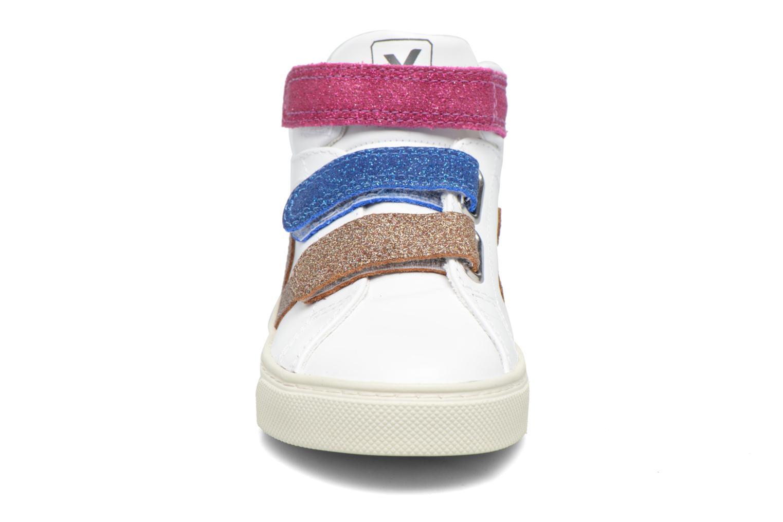 Baskets Veja Esplar Mid Small Velcro Blanc vue portées chaussures