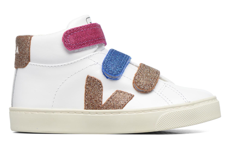 Baskets Veja Esplar Mid Small Velcro Blanc vue derrière