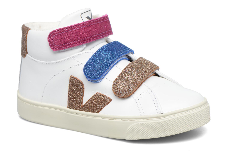 Baskets Veja Esplar Mid Small Velcro Blanc vue détail/paire