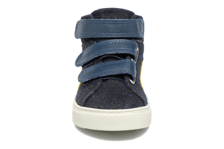 Sneakers Veja Esplar Mid Small Velcro Blå bild av skorna på