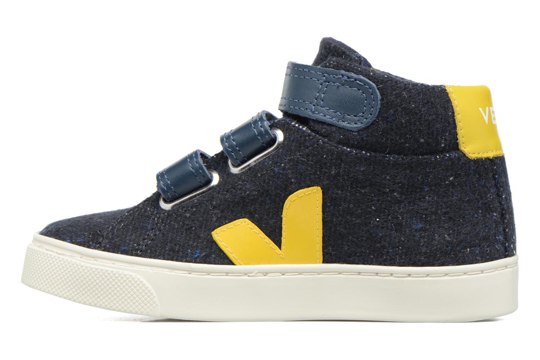 Sneakers Veja Esplar Mid Small Velcro Blå bild från framsidan