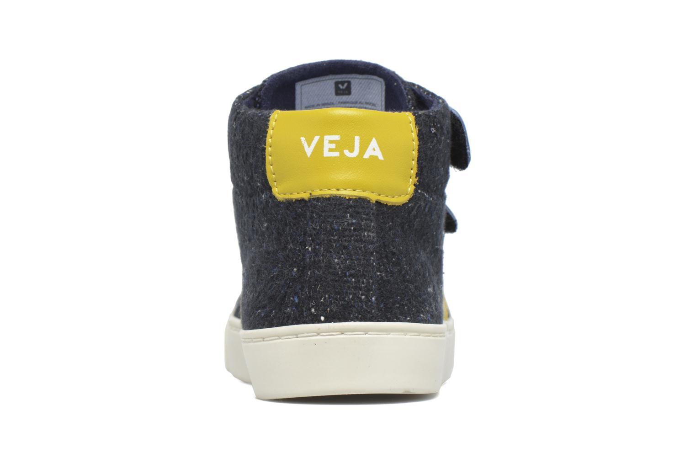 Sneakers Veja Esplar Mid Small Velcro Blå Bild från höger sidan