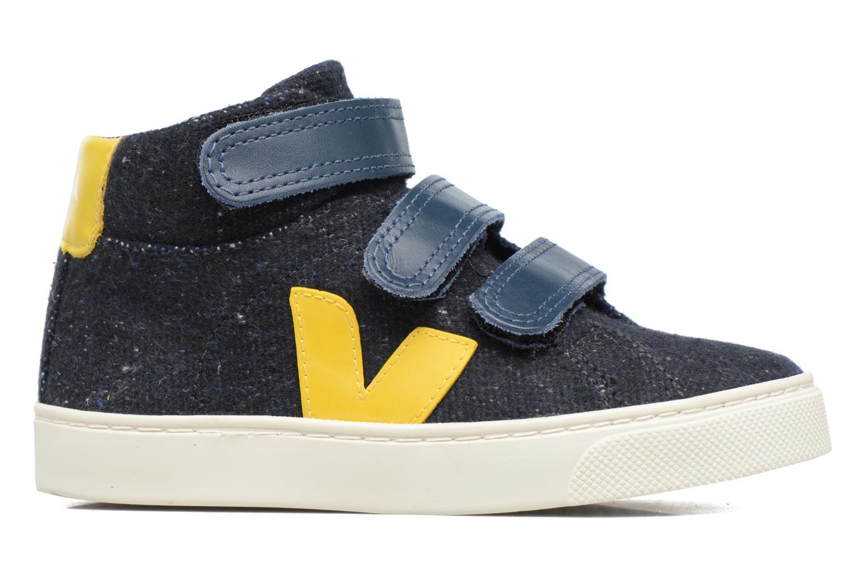Sneakers Veja Esplar Mid Small Velcro Blå bild från baksidan