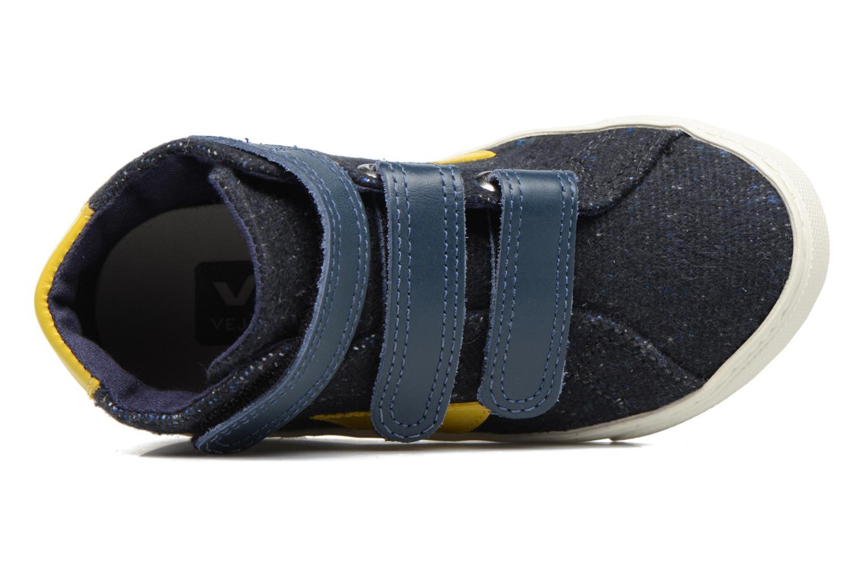 Sneakers Veja Esplar Mid Small Velcro Blå bild från vänster sidan